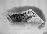 Гоголь на смертном одре. Рисунок Зинькова.