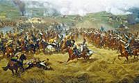 Панорама Бородинского сражения (фрагмент). Художни
