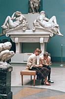 В одном из залов музея Изобразительных искусств им