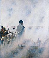 Император Наполеон на Поклонной горе. Художник В.