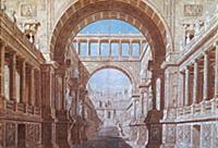 Эскиз декорации П.Гонзаго для крепостного театра в