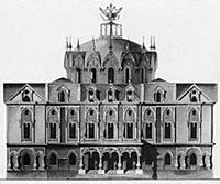 Проект Петровского путевого дворца. Москва, Россия