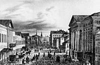 Тверская улица. Начало XIX века. Москва, Россия.