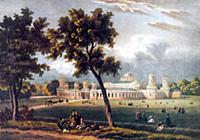 Петровский путевой дворец. 1790 г. Раскращенная ли