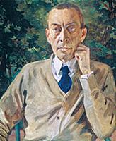 Портрет композитора и пианиста С.Рахманинова