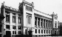 Здания театра Ленком. Бывший купеческий клуб. Моск
