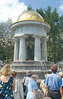 У фонтана Ротонда. Москва, Россия.
