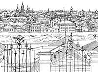 Панорама Замоскворечья. 1790-е годы. Москва.