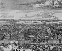 Вид усадьбы Ф.А.Головина в Немецкой слободе. 1705