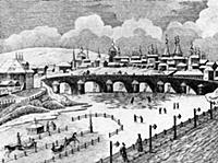 Вид на Большой Каменный мост. Москва.