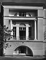 Фрагмент фасада 1-ой (первой) Градской больницы. А