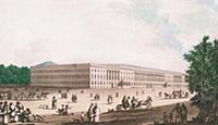 Екатерининский дворец в Лефортове. 1812 г. Москва.