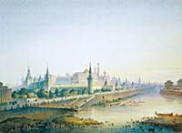 Москва-река в районе Большого Каменного моста. Мос