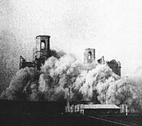 Взрыв Храма Христа Спасителя. 5 декабря 1931 года.