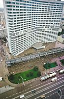 Высотное здание на Новом Арбате. Вид на проезжую ч