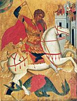 Святой Георгий Победоносец. Икона XVI в.