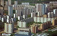 Спальные районы Москвы. Аэрофотосъемка. Вид сверху