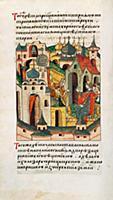 Лазарь Сербин поставил часы на Кремль. 1404 год. Л