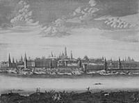 Панорама Москвы. Гравюра П.Пикарта. Начало XVIII в