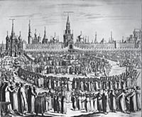 Панорама Кремля со стороны Красной площади. Гравюр