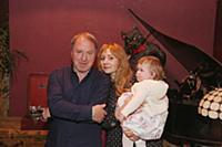Владимир Стеклов с женой Ириной и дочерью Ариной.