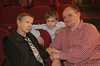 Антонина Кузнецова, Сергей Фролов с сыном. Первая