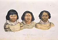 Жители Алеутских островов. Рисунок  из альбома О.К