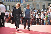 Борис Смолкин с супругой. Кинофестиваль «Виват кин