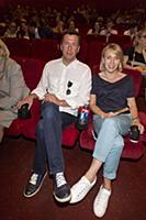 Андрей Мерзликин с супругой. Премьера фильма «Донб
