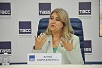 Анна Харламенко. Пресс-конференция, посвященная от