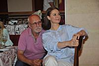 Юрий Беляев, Ирина Лачина. Пресс-обед посвященный