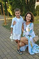 Ольга Кабо с сыном Виктором. 23-й Фестиваль Визуал