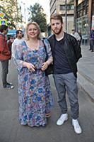 Ольга Машная с сыном. Юбилейный вечер Сергея Новож