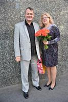 Сергей Барышев с супругой. Юбилейный вечер Сергея