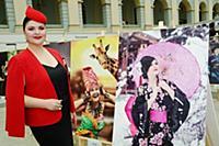 Анна Комкина. Открытие международной модной выстав
