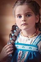 Портреты детей в русской народной одежде