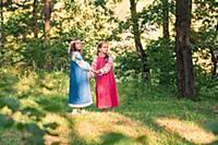 Девочки в русской народной одежде