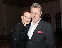 Балерина Илзе Лиепа с мужем Владиславом Паулюсом.