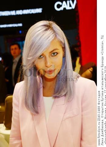 Лина Дембикова. Открытие бутика итальянского бренда «Cromia». ТЦ «Европейский». Москва, Россия, 27 сентября 2019.