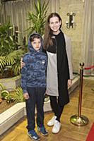 Наталья Лесниковская с сыном. Премьера фильма «Вол