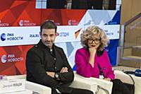 Пресс-конференция Дмитрия Певцова и Ольги Певцовой
