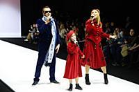 Владимир Левкин с семьей. Неделя Моды в Москве. По