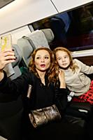 Марина Ичетовкина с дочерью. Модный показ 'Russia.