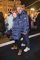 Сергей Гармаш с сыном. Праздничное открытие ГУМ-Ка