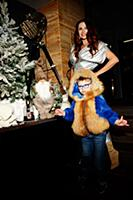 Эвелина Бледанс с сыном Семеном. Рождественский бл