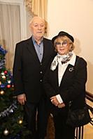 Алла Сурикова с мужем. Празднование 'Хануки' в Кул