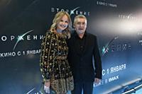 Антон Табаков с супругой. Премьера фильма «Вторжен