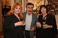 Клара Новикова, Леонид Каневский с супругой Анной.