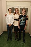 Анна Тихонова с детьми Вячеславом и Георгием. Откр