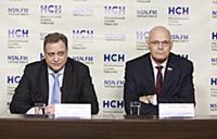 Георгий Сапронов, Владимир Круглый. Пресс-конферен